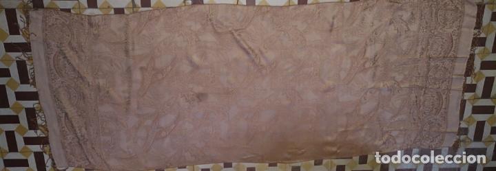 Antigüedades: PAÑUELO PICO CHAL TRAJE REGIONAL MANTON MODA COMPLEMENTO 80 % LANA 175 CM APROXIMADOS - Foto 6 - 154041078