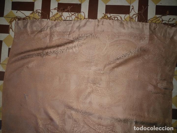 Antigüedades: PAÑUELO PICO CHAL TRAJE REGIONAL MANTON MODA COMPLEMENTO 80 % LANA 175 CM APROXIMADOS - Foto 9 - 154041078