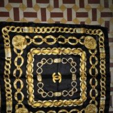 Antigüedades: PAÑUELO PICO CHAL TRAJE REGIONAL MANTON MODA COMPLEMENTO 87 CM APROXIMADOS. Lote 154042106