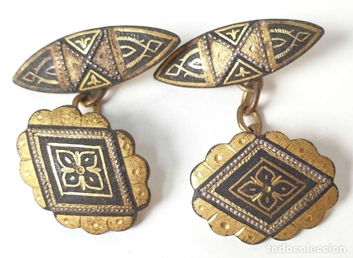 Antigüedades: COLECCIÓN DE 20 GEMELOS PARA CABALLERO. VARIOS MATERIALES. SIGLO XX. - Foto 9 - 154074454