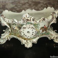 Antigüedades: BASE DE RELOJ DE PORCELANA. Lote 154094296