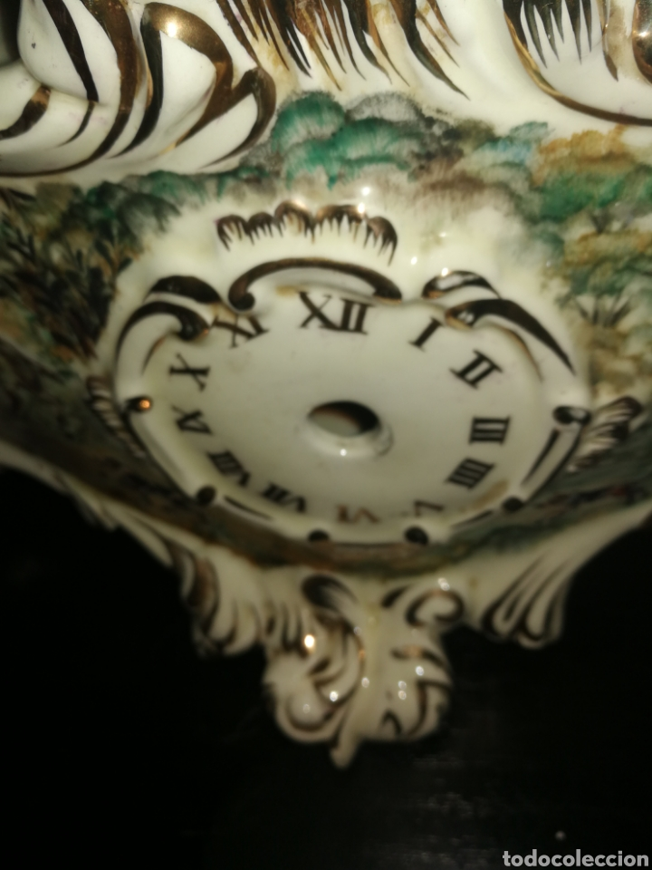 Antigüedades: BASE DE RELOJ DE PORCELANA - Foto 7 - 154094296