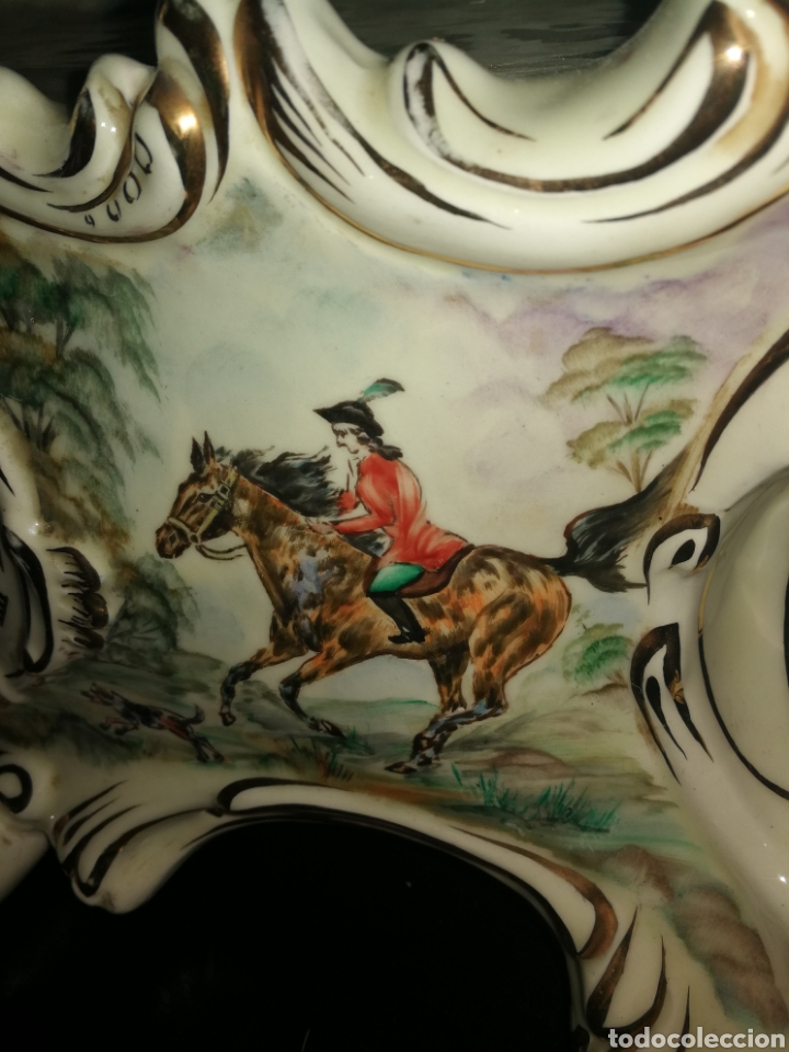 Antigüedades: BASE DE RELOJ DE PORCELANA - Foto 8 - 154094296
