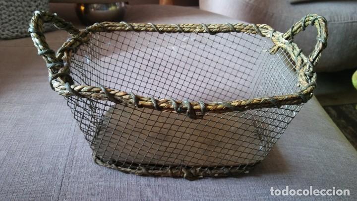 Antigüedades: Cestita con alambre - Foto 2 - 154113022