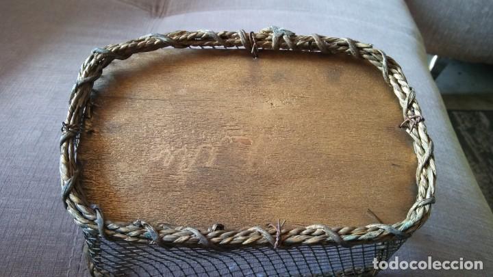 Antigüedades: Cestita con alambre - Foto 3 - 154113022