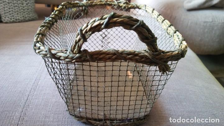 Antigüedades: Cestita con alambre - Foto 5 - 154113022