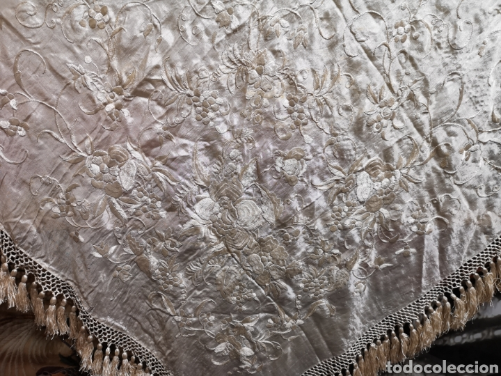 Antigüedades: Maravilloso mantón imperio - Foto 2 - 154120548