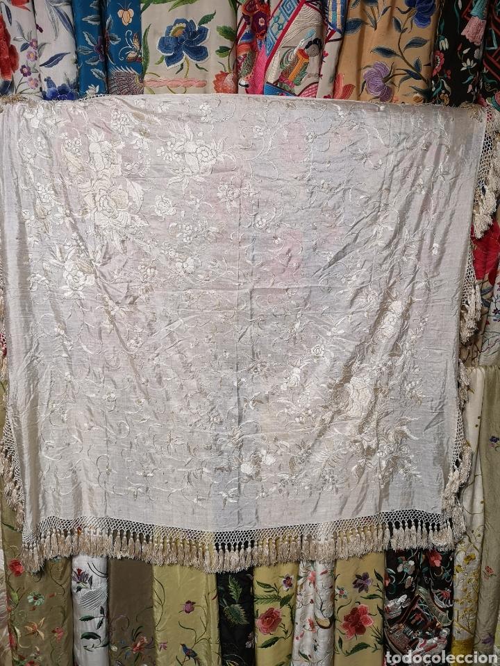 Antigüedades: Maravilloso mantón imperio - Foto 3 - 154120548