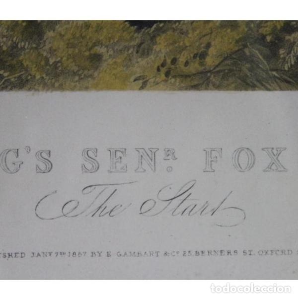 Antigüedades: Anigua lámina de 1857 J.F. HERRING´S original - Foto 4 - 154132170