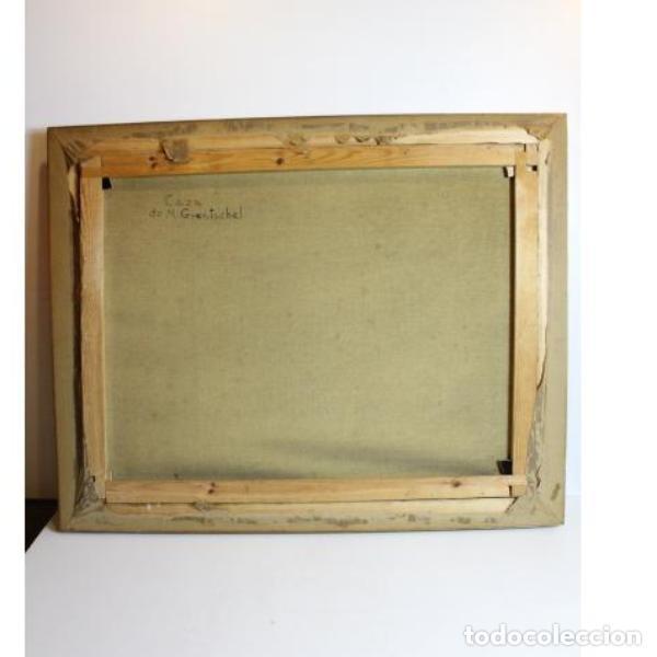 Antigüedades: Antiguo cuadro óleo original bodegón caza - Foto 8 - 154132514