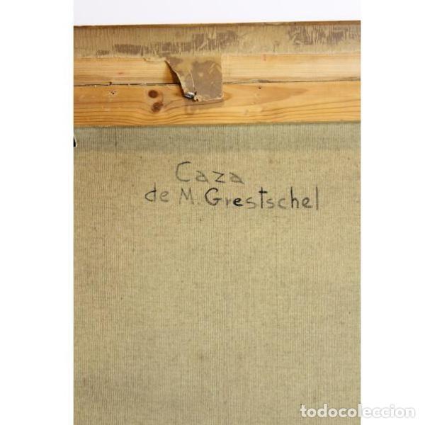 Antigüedades: Antiguo cuadro óleo original bodegón caza - Foto 9 - 154132514