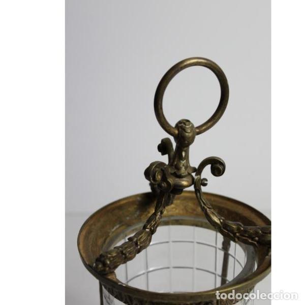 Antigüedades: Antiguo farol de bronce y cristal - Foto 2 - 154132786