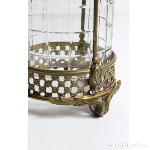 Antigüedades: Antiguo farol de bronce y cristal - Foto 4 - 154132786