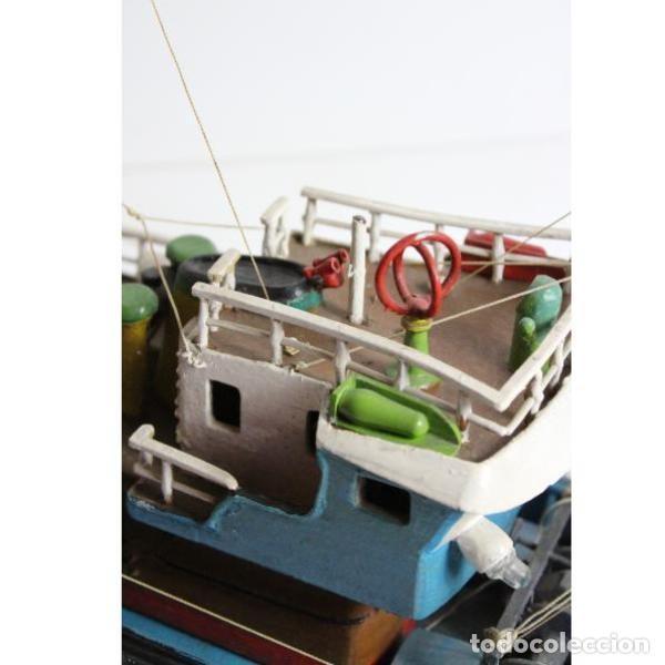 Antigüedades: Antigua maqueta de barco de pesca - Foto 2 - 154133038