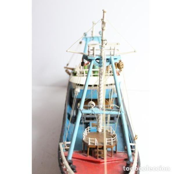 Antigüedades: Antigua maqueta de barco de pesca - Foto 3 - 154133038