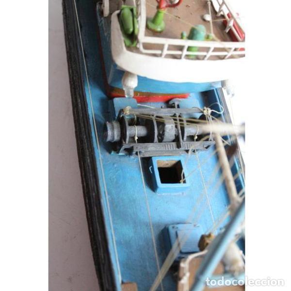 Antigüedades: Antigua maqueta de barco de pesca - Foto 4 - 154133038
