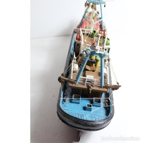 Antigüedades: Antigua maqueta de barco de pesca - Foto 5 - 154133038