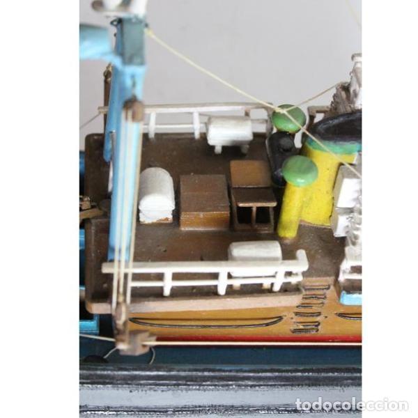 Antigüedades: Antigua maqueta de barco de pesca - Foto 6 - 154133038