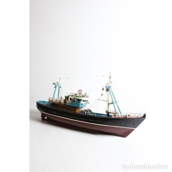 Antigüedades: Antigua maqueta de barco de pesca - Foto 7 - 154133038
