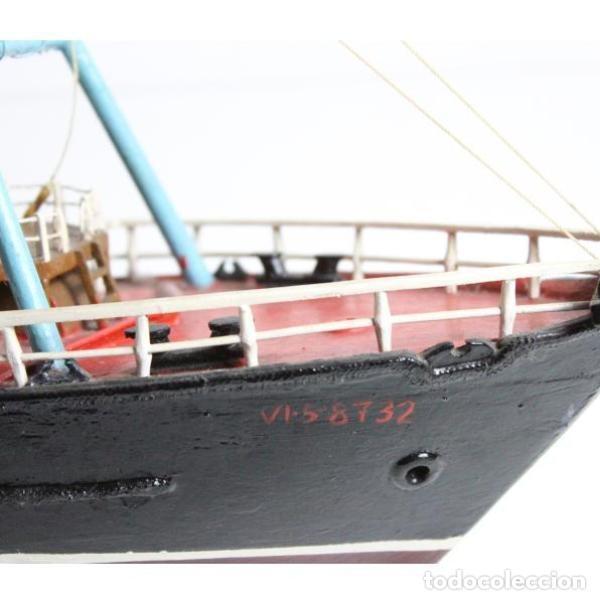 Antigüedades: Antigua maqueta de barco de pesca - Foto 8 - 154133038