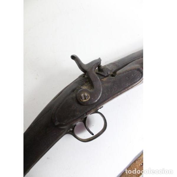 Antigüedades: Antigua escopeta de avancarga para decoración - Foto 6 - 154133642