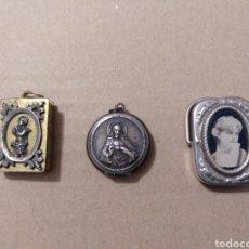 Antigüedades: RD- TRES CAJITAS RELICARIO. A CLASIFICAR. DIVERSAS CONSERVACIONES. VER FOTOS. Lote 154144484