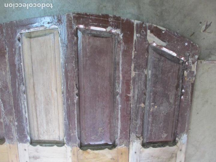 Antigüedades: Gran Portón Antiguo - Puerta - Madera Pino - 4 Hojas - Herrajes, Cerradura y Picaporte - S. XIX - Foto 6 - 154145162