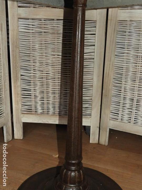 Antigüedades: MESA VELADOR VINTAGE BISTRO TIPO BAR PATA HIERRO Y METAL - Foto 8 - 154150074