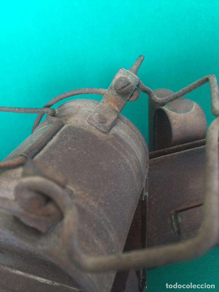 Antigüedades: Antiguo farol de hierro 26x16x11cm - Foto 7 - 154156672