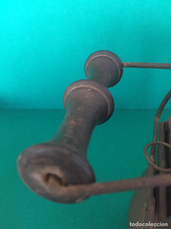 Antigüedades: Antiguo farol de hierro 26x16x11cm - Foto 9 - 154156672