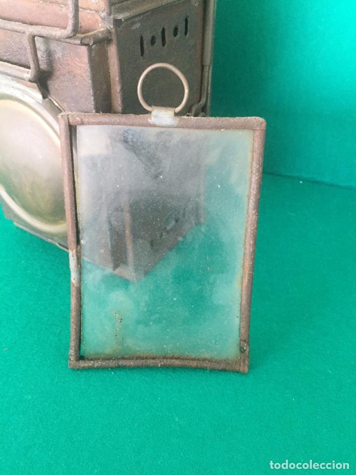 Antigüedades: Antiguo farol de hierro 26x16x11cm - Foto 10 - 154156672