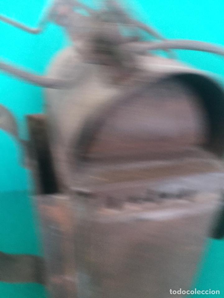 Antigüedades: Antiguo farol de hierro 26x16x11cm - Foto 14 - 154156672