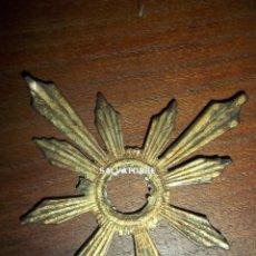 Antigüedades: CORONA POTENCIA.HALO.RESPLANDOR.PARA IMAGEN RELIGIOSA.METAL.7´5 CM DIAMETRO.. Lote 154160666