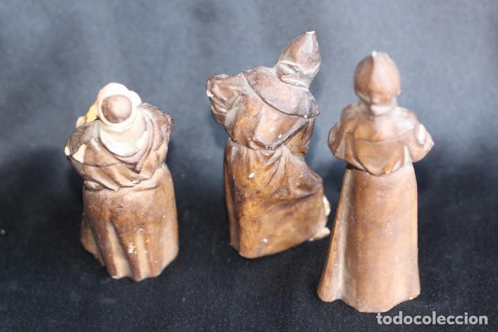 Antigüedades: DE COLECCIÓN TRES ANTIGUOS FRAILES DE ALGORA NUMERADOS Y FIRMADOS EN BASE - Foto 13 - 154164822
