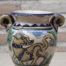 Antigüedades: JARRA ANTIGUA DEL LOBO - PUENTE DEL ARZOBISPO ( TOLEDO ). Lote 154174406