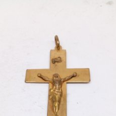 Antigüedades - Colgante Cruz metal chapado - 154176048