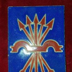 Antigüedades: AZULEJO FALANGE TRIANA 1938. Lote 154191842