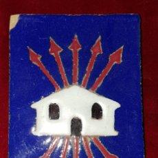 Antigüedades: AZULEJO FALANGE TRIANA CASAS BARATAS 1938. Lote 154192150