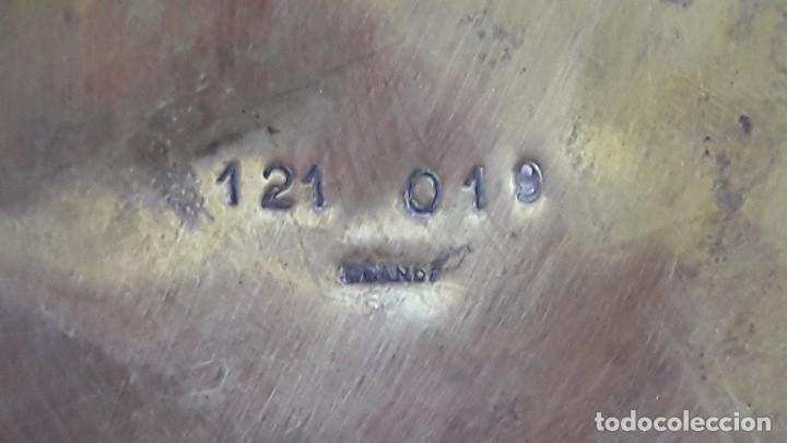 Antigüedades: HOSTIARIO , PATENA EUCARISTICA EN BRONCE LABRADO - Foto 6 - 154201818
