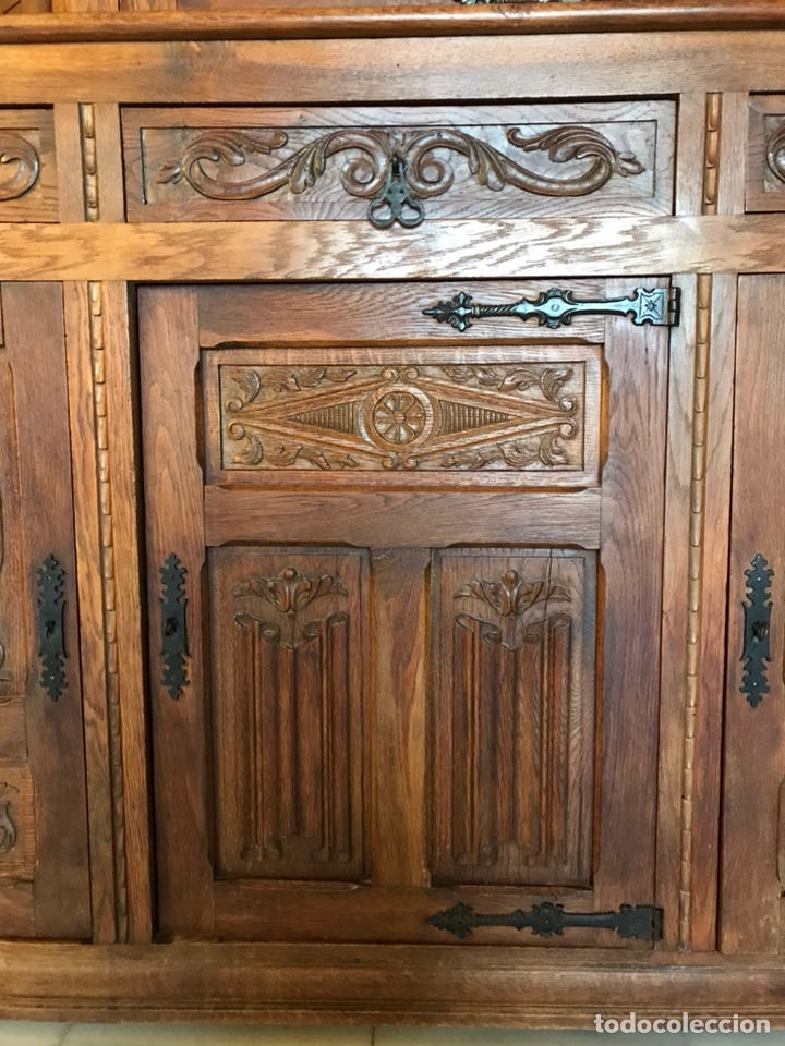 Antigüedades: Aparador castellano en roble macizo. R 6314 - Foto 7 - 154208894