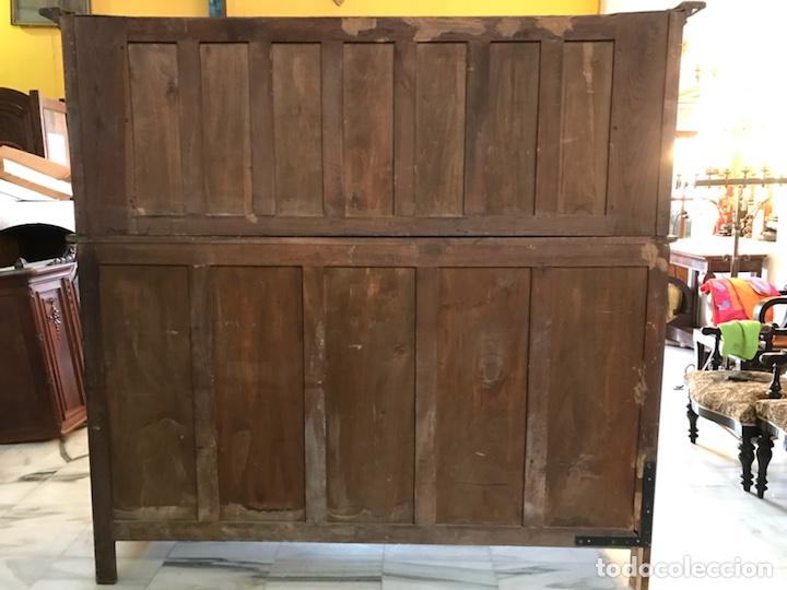 Antigüedades: Aparador castellano en roble macizo. R 6314 - Foto 10 - 154208894