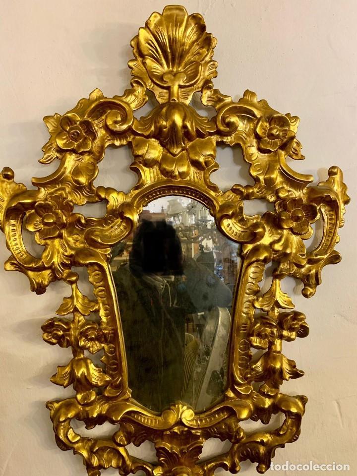 ESPEJO CORNUCOPIA PAN DE ORO (Antigüedades - Muebles Antiguos - Cornucopias Antiguas)