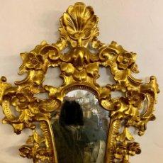 Antigüedades: ESPEJO CORNUCOPIA PAN DE ORO. Lote 154219102