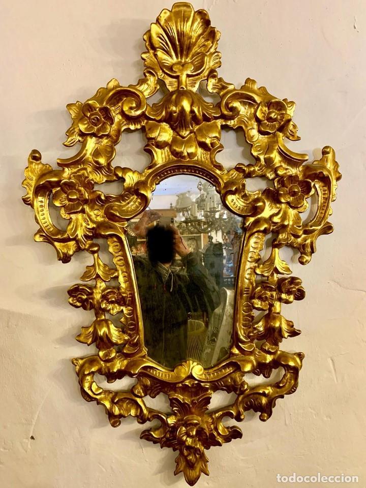 Antigüedades: ESPEJO CORNUCOPIA PAN DE ORO - Foto 2 - 154219102