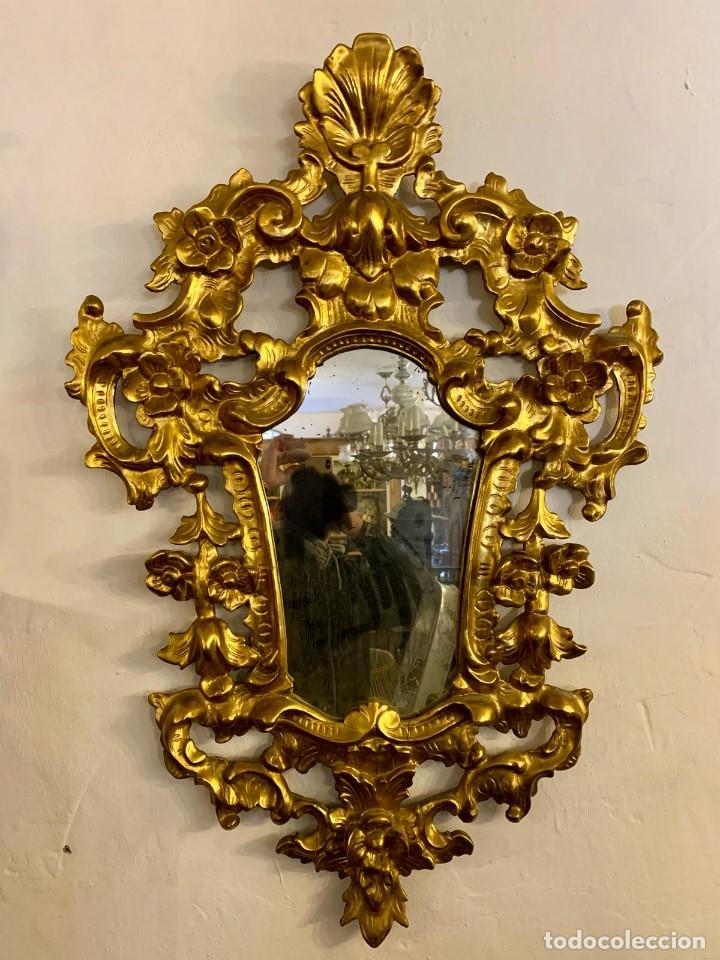 Antigüedades: ESPEJO CORNUCOPIA PAN DE ORO - Foto 5 - 154219102