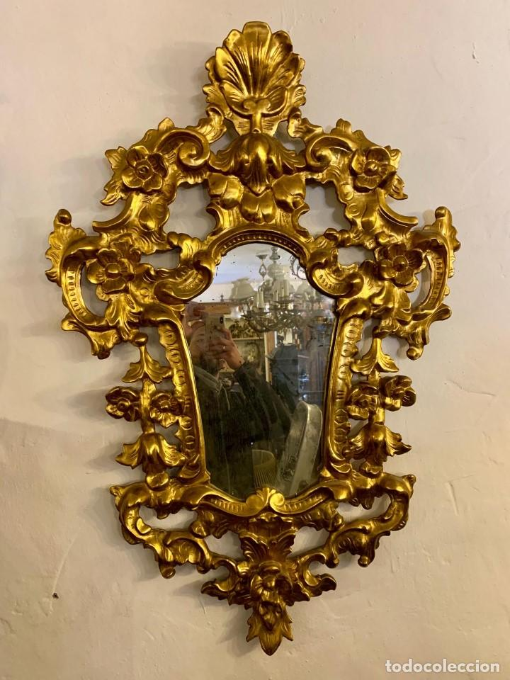 Antigüedades: ESPEJO CORNUCOPIA PAN DE ORO - Foto 6 - 154219102
