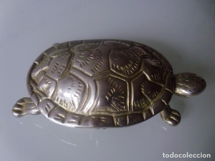 Antigüedades: TORTUGA- METAL PLATEADO - Foto 2 - 143090350