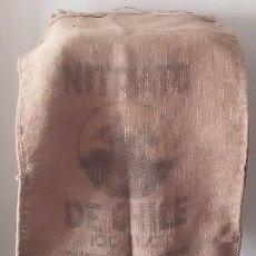 Antigüedades: SACO ARPILLERA - NITRATO DE CHILE. Lote 154258314