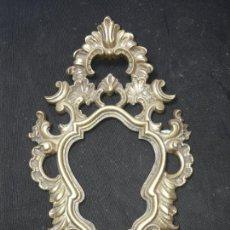 Antigüedades: MARCO DE METAL DORADO. Lote 154263746