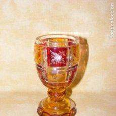 Antigüedades: COPA DE CRISTAL BOHEMIA. Lote 154264118